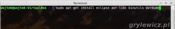 apt-get install eclipse avr-libc binutils avrdude
