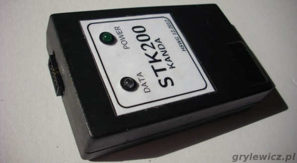 Programator STK200 od strony złącza KANDA