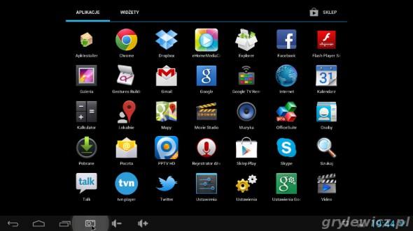 Aplikacje w MK808