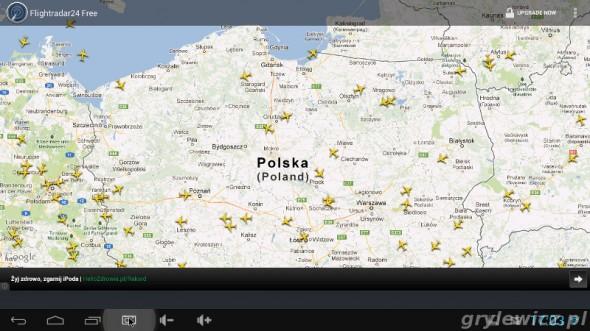 Aplikacja flightradar24