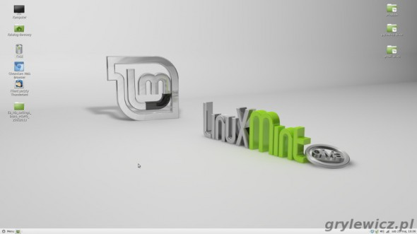 Pulpit Linux Mint Mate paleta 24 bit