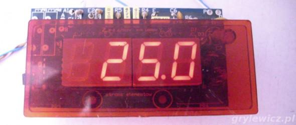 Uruchomiony termometr AVT2410
