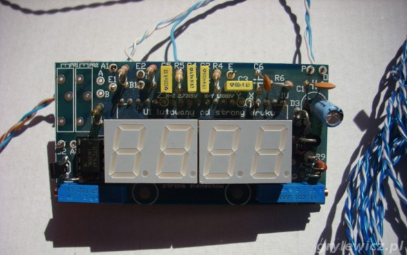 Termometr na ICL7107 - przód