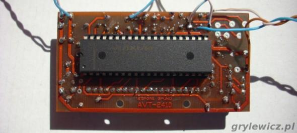 Termometr na ICL7107 - tył