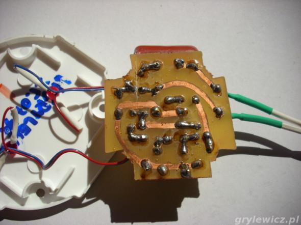 PCB migacza od strony ścieżek