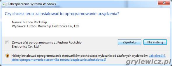 Sterowniki Rockchip do mk808
