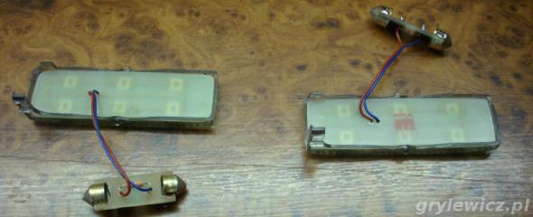 Moduły LED w lampkach tylnich Passata