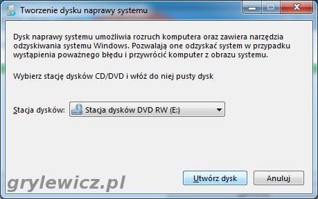 Dysk naprawy w Windows 7