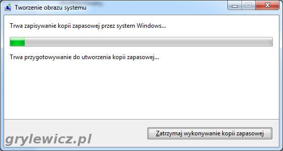 Windows 7 - Tworzenie obrazu systemu