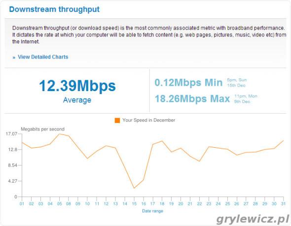 Wykres download - grudzień 2013