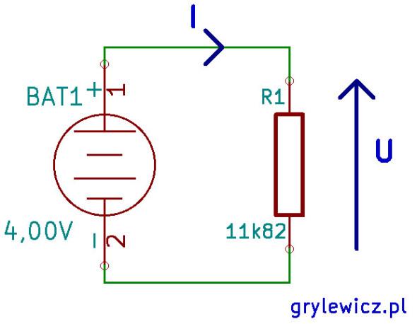 Pomiar prądu i napięcia na rezystorze