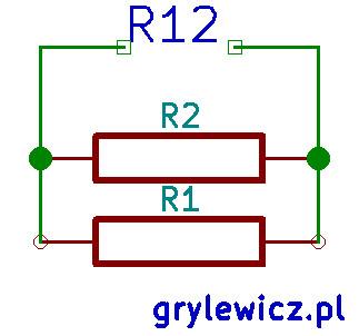 Oporniki połączone równolegle - schemat