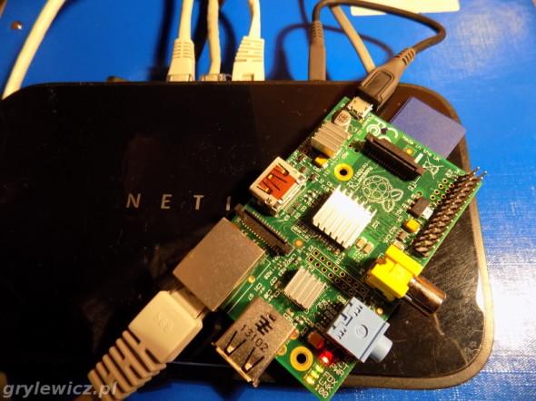 Raspberry podłączony do routera