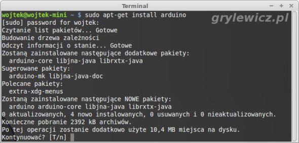apt-get install arduino