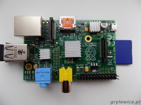 Raspberry Pi z radiatorkami