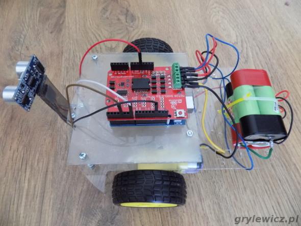 Robot z użyciem Arduino - widok z góry