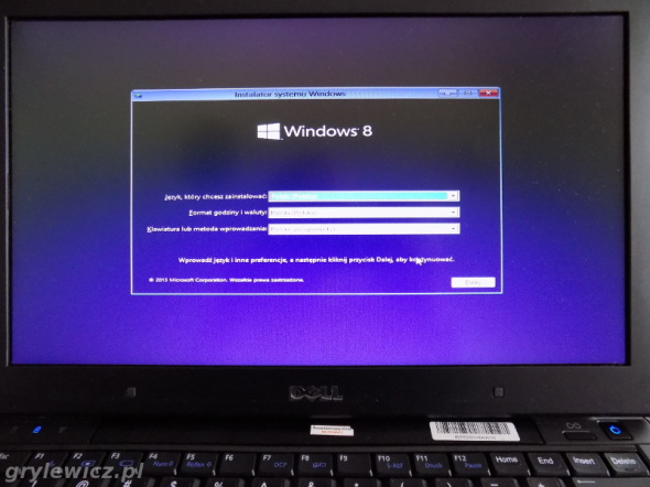 Windows 8.1 na Dell E4310