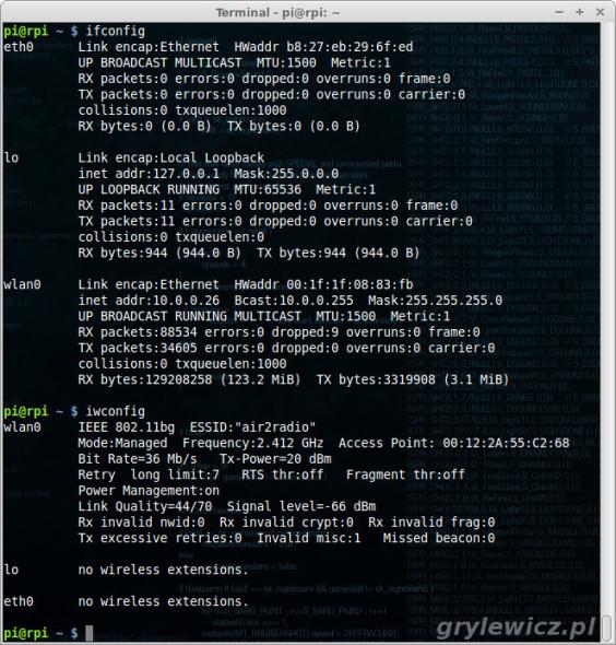 Konfiguracja WiFi w Raspberry