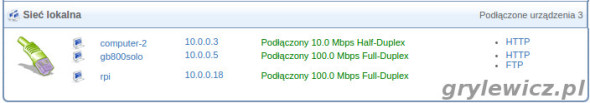 Adres IP malinki w routerze
