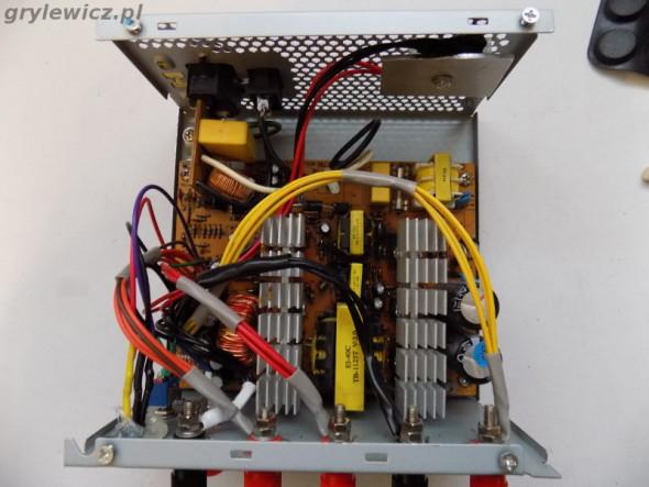 Połączenia kabli zasilacza ATX