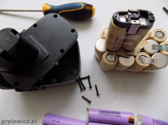 Bateria wkrętarki z ogniw SC