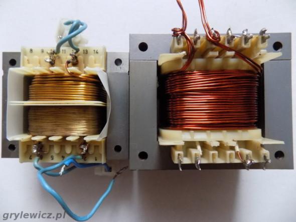 Transformatory sieciowe na rdzeniach z blach EI