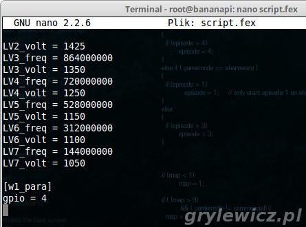Bananian - edycja script.fex