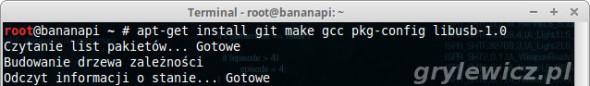 Bananian - instalacja pakietów