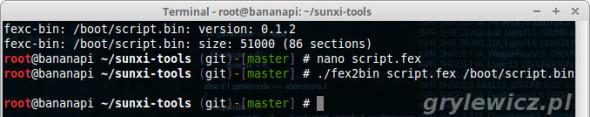Kompilacja script.fex do script.bin