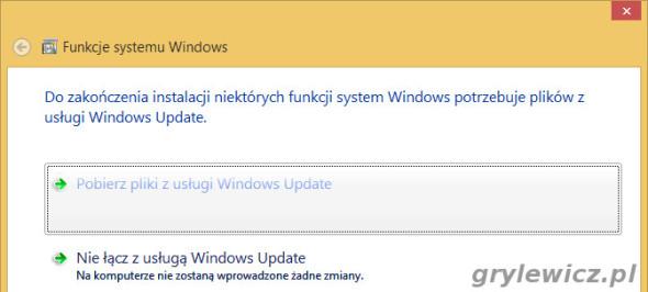 Potrzebne pliki z Windows Update