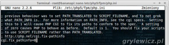 Bananian konfiguracja php5 fpm