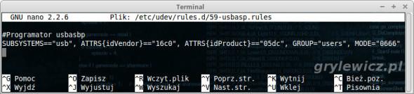 USBasp - reguła