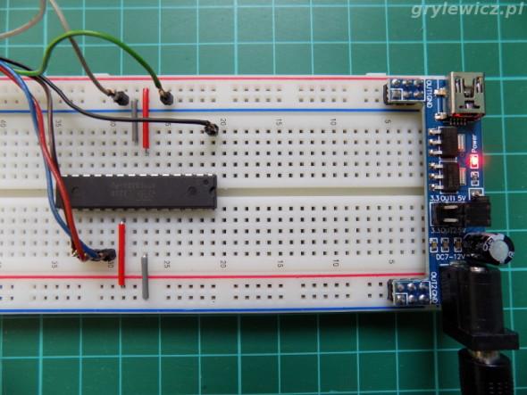 Płytka stykowa - programowanie atmega8