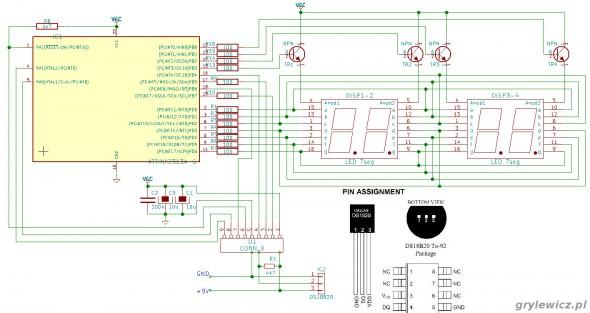 Termometr na mikrokontrolerze