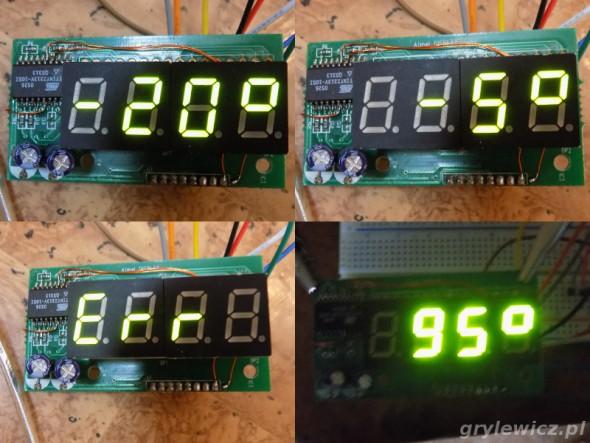 Termometr z płytki atmel_display