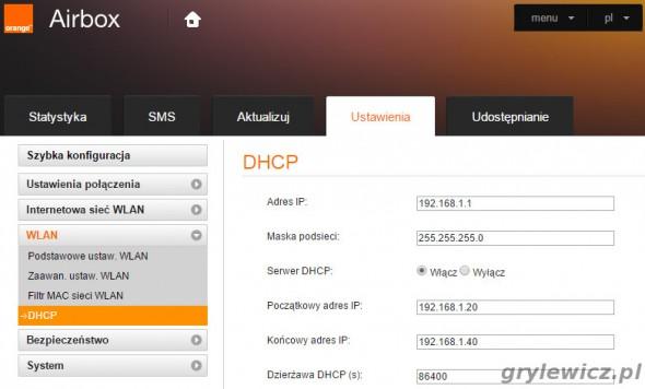 Huawei konfiguracja sieci