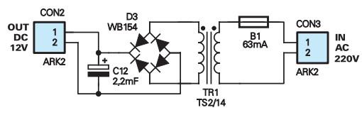 Schemat zasilacza AVT-2725