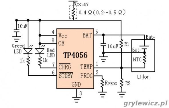 Schemat TP4056