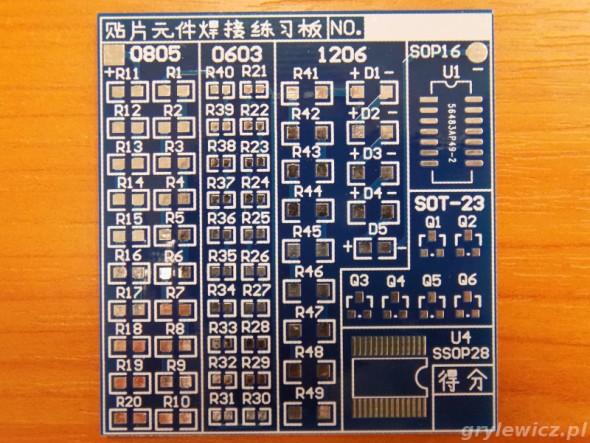 PCB z małego zestawu SMD