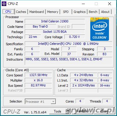 Aplikacja CPU-Z