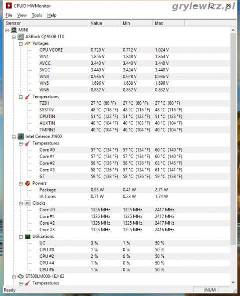 Aplikacja hw monitor