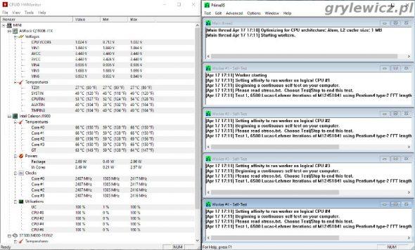 Test CPU - Prime95