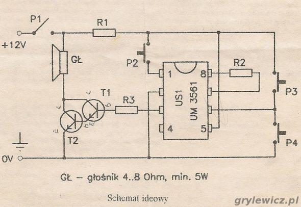 Schemat ideowy układu NE006