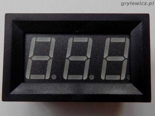 Chiński panelowy miernik prądu