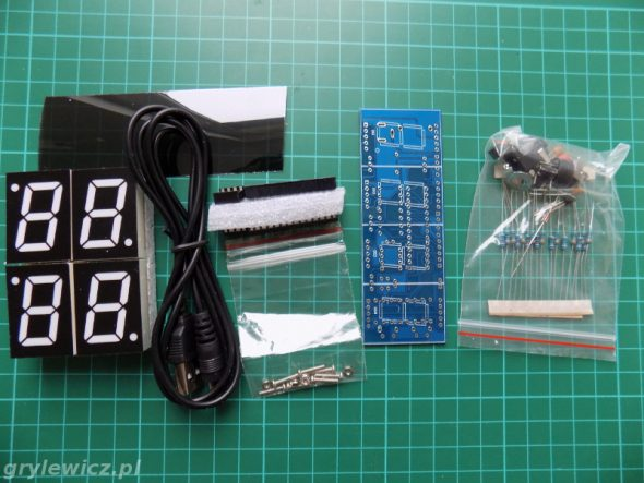 Zegar DIY - części