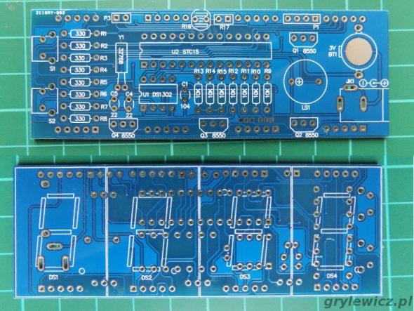 Zegar DIY - PCB