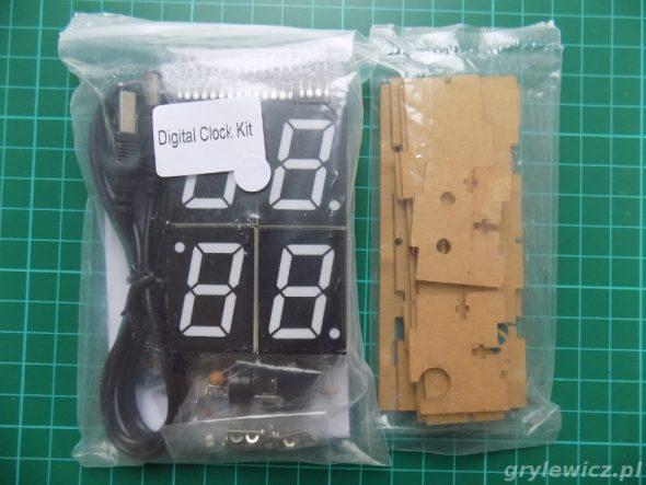 Paczka z częściami - zegar DIY