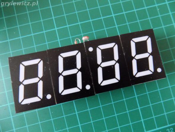 Zegar DIY - strona wyświetlaczy