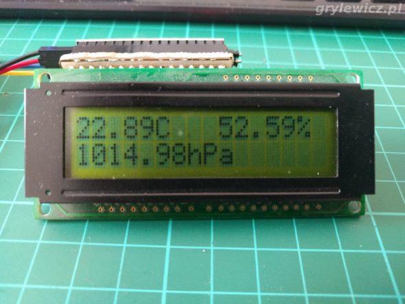 LCD - dane z BME280