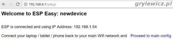 esp easy połączony z siecią